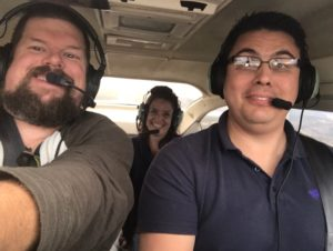 who is flying the airplane?