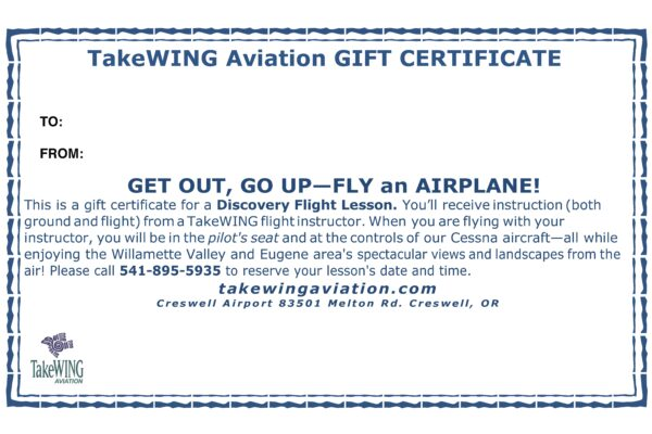 voucher Discover Flying Flight Lesson