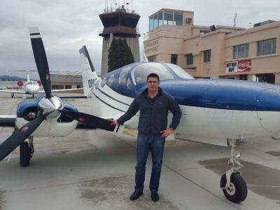 Eric flying 421